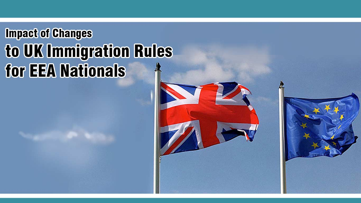 Impact of Changes to the UK immigration Rules on EU, EEA & Swiss Citizens.